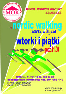 Plakat ,,Nordic walking""