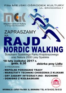 Plakat ,,Rajd nordic walking""